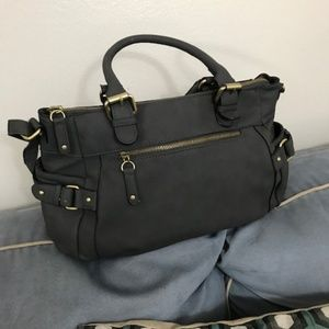 Host Pick ⭐️Merona Smokey Grey Leather Hand Bag